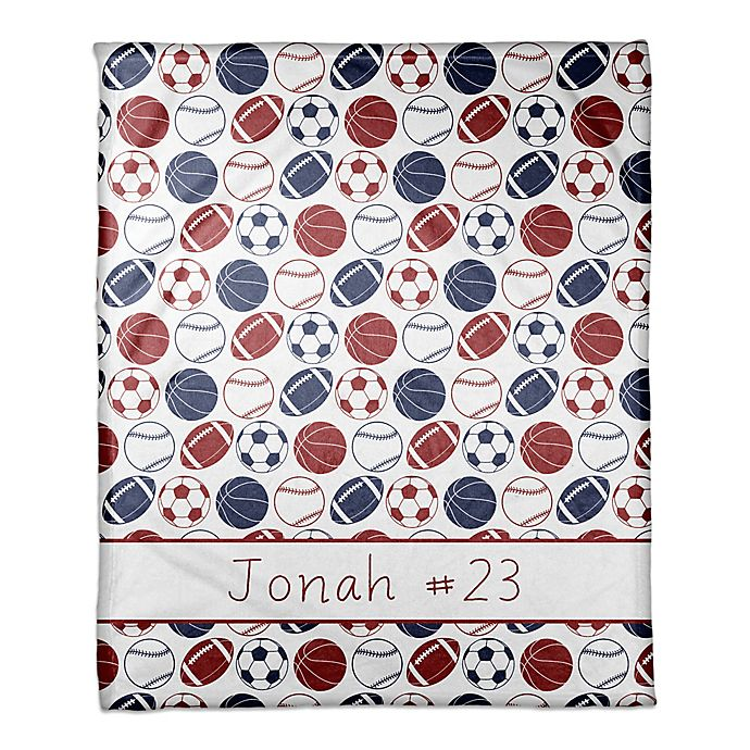 Alternate image 1 for Sports Balls Coral Fleece Blanket