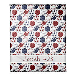 Sports Balls Coral Fleece Blanket