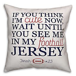 Designs Direct Cute Football Jersey 16-Inch Square Throw Pillow