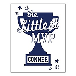 "Designs Direct ""The Littlest MVP"" 16-Inch x 20-Inch Canvas Wall Art"