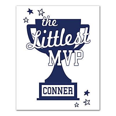 "Designs Direct ""The Littlest MVP"" 16-Inch x 20-Inch Canvas Wall Art"