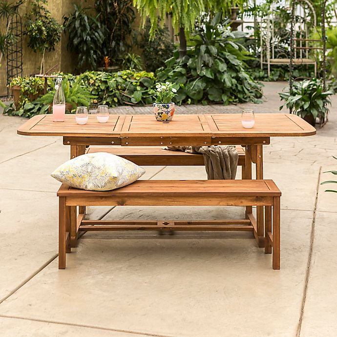 Alternate image 1 for Forest Gate Eagleton Patio 3-Piece Acacia Wood Patio Dining Set