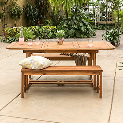 Forest Gate Eagleton Patio 3-Piece Acacia Wood Patio Dining Set