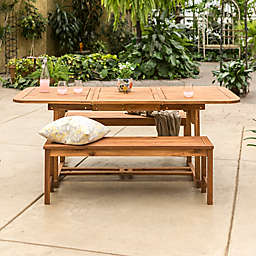 Forest Gate Eagleton Patio 3-Piece Acacia Wood Patio Dining Set