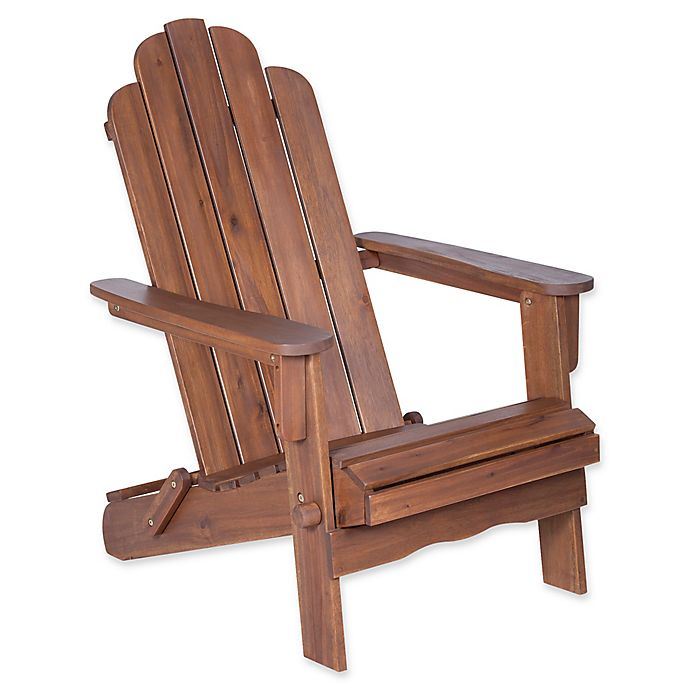 Alternate image 1 for Forest Gate Eagleton Acacia Folding Adirondack Chair