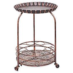 Old Dutch International Pop Wine Serving Cart in Antique Copper