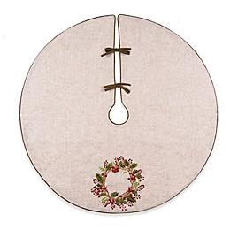 C&F Home Berry Wreath Ribbon Art Christmas Tree Skirt