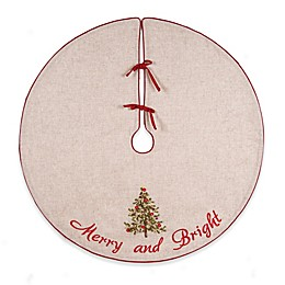 C&F Home Tree Ribbon Art Christmas Tree Skirt