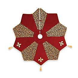 C&F Home Fleur De Lis Christmas Tree Skirt in Red/Gold