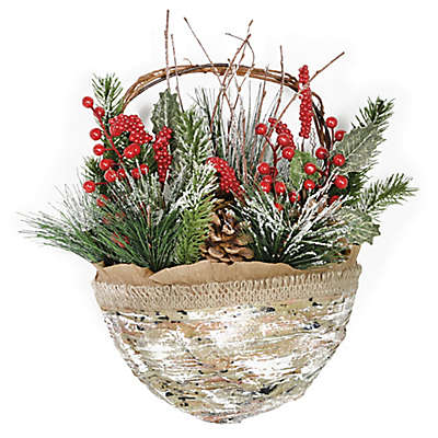 Boston International 14-Inch Evergreen Door Basket