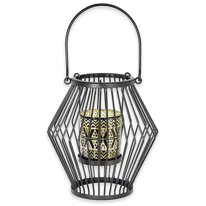 Alternate image 1 for Boston International 12-Inch Sweater Candle Lantern Holder in Brown (Set of 2)