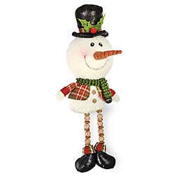 Boston International Plaid Pals 18-Inch Whimsy Snowman Sitter