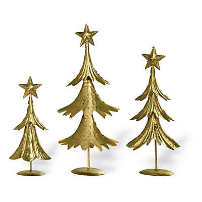 Boston International Tiered Trees in Gold (Set of 3)