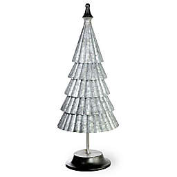 Boston International Galvanized 24-Inch Metal Vail Tree in Silver