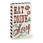 Boston International 4.5-Inch x 8-Inch  Be Merry  LED Box Sign in Red/White/Green
