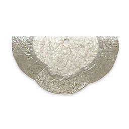 Kurt Adler 60-Inch Vine Scalloped Christmas Tree Skirt in Silver