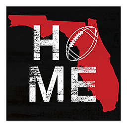 Designs Direct Florida State Pride 16-Inch Square Canvas Wall Art in Red