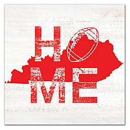 Designs Direct Kentucky Football State Pride 16-Inch Square Canvas Wall Art in Red