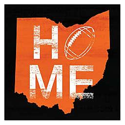 Designs Direct Ohio Football State Pride 16-Inch Square Canvas Wall Art in Orange