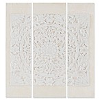Madison Park Mandala Park 3-Piece Canvas Wall Art Set in White