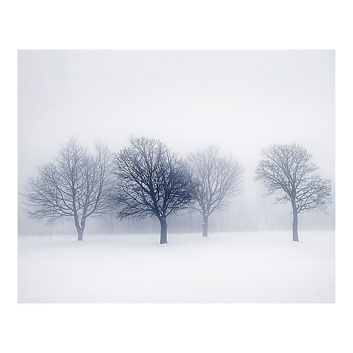 Alternate image 1 for Winter Trees 9-Foot 10-Inch x 8-Foot 1-Inch Wall Mural