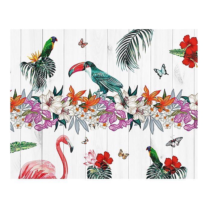 Birds Of Paradise 9 Foot 10 Inch X 8 Foot 1 Inch Wall Mural Bed