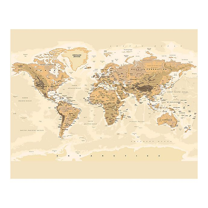 Alternate image 1 for Sepia World 9-Foot 10-Inch x 8-Foot 1-Inch Wall Mural