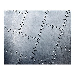 Tiled Metal 9-Foot 10-Inch x 8-Foot 1-Inch Wall Mural