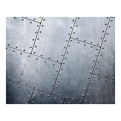 Tiled Metal 9-Foot 10-Inch x 8-Foot 1-Inch Wall Mural
