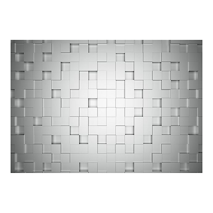 Ideal Decor Cubes Wall Mural In Grey Bed Bath And Beyond Canada