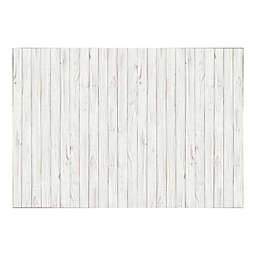 Ideal Décor Wooden Wall Mural in White