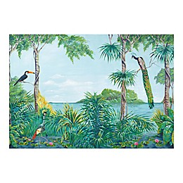 Ideal Decor Blue Lagoon Wall Mural in Green