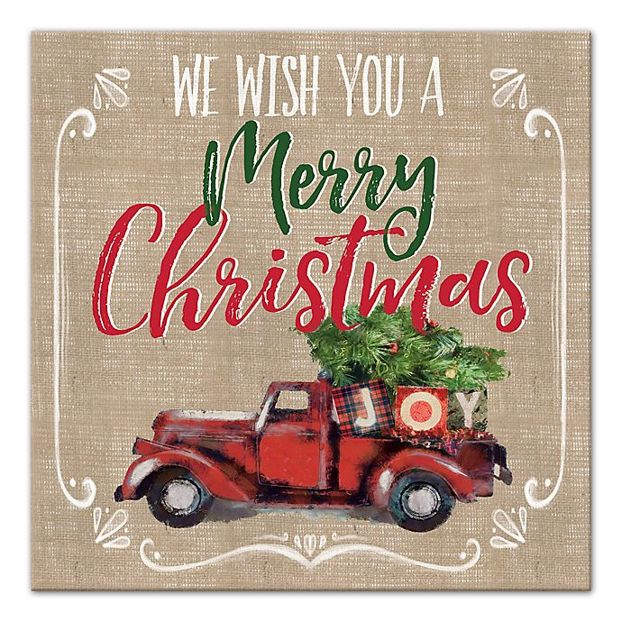 Alternate image 1 for Designs Direct We Wish You a Merry Christmas Canvas Wall Art