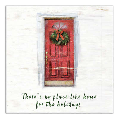 Designs Direct Home for the Holidays 16-Inch x 16-Inch Canvas Wall Art