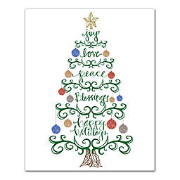 Designs Direct Tree Words 16-Inch x 20-Inch Canvas Wall Art
