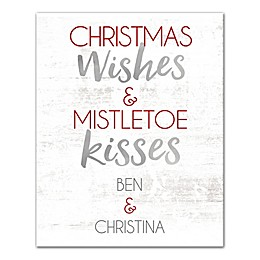 Designs Direct Christmas Wishes and Kisses 16-Inch x 20-Inch Canvas Wall Art