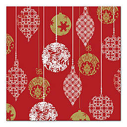 Designs Direct Christmas Ornaments 12-Inch Square Canvas Wall Art