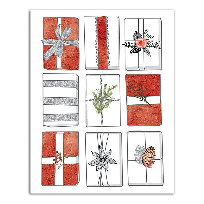 Alternate image 1 for Designs Direct Rows of Presents 14-Inch x 11-Inch Canvas Wall Art
