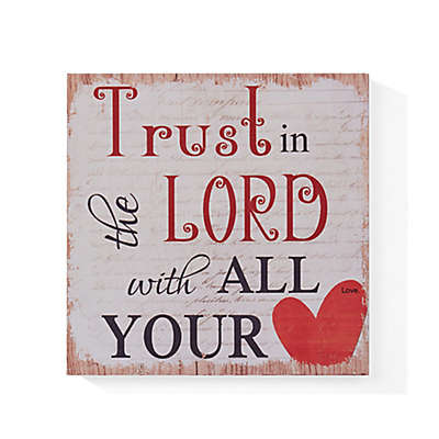 "Danya B. ""Trust in the Lord"" Wood Wall Art"