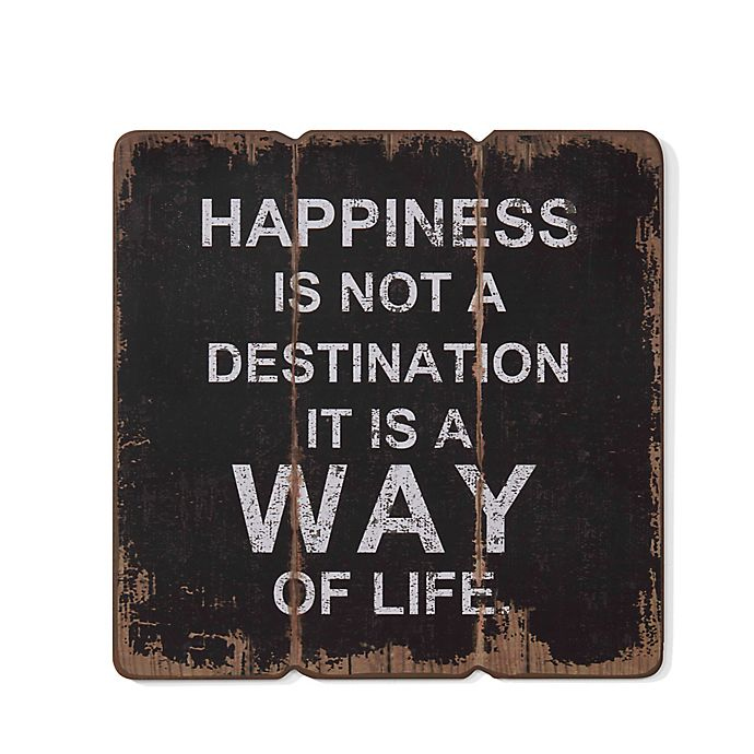 Alternate image 1 for Danya B. Happiness is a Way of Life Wooden Wall Art