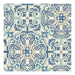 WallPops!® NuWallpaper™ Florentine Tile Peel & Stick Wallpaper in Blue