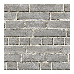 WallPops!® NuWallpaper™ Brick Façade Peel & Stick Wallpaper in Grey