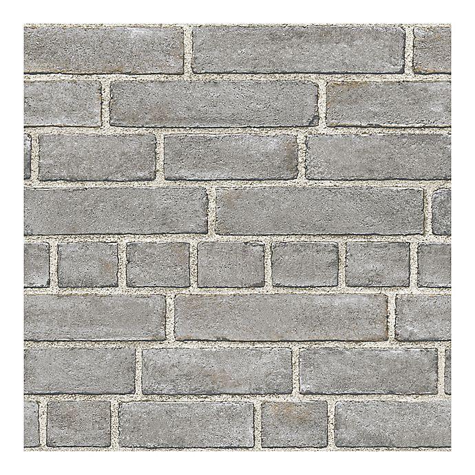 Wallpops Nuwallpaper Brick Facade Peel Stick Wallpaper In Grey Bed Bath Beyond