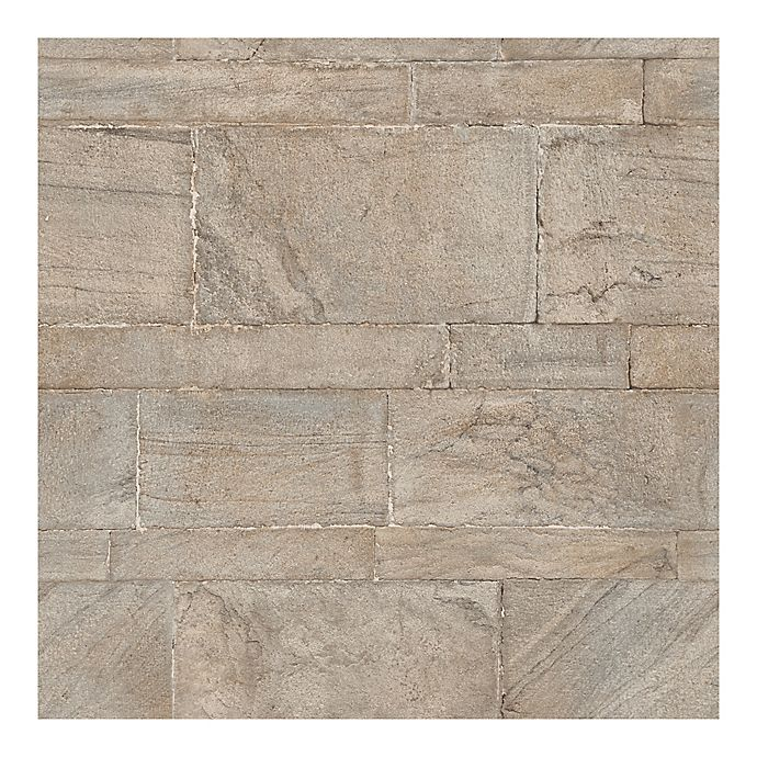 Alternate image 1 for WallPops!® NuWallpaper™ Sandstone Wall Peel & Stick Wallpaper in Brown