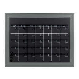 Kate and Laurel Bosc Framed Chalkboard and Monthly Calendar