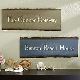 Our Family Getaway 23-Inch x 10-Inch Basswood Plank Sign