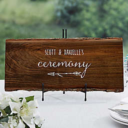 Rustic Wedding Basswood Plank Sign