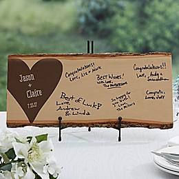 Wedding Guest Book Basswood Plank Sign