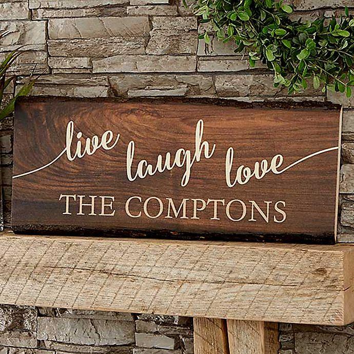 Live Laugh Love Basswood Plank Sign Bed Bath Amp Beyond