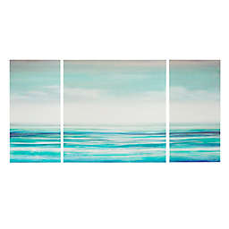 Madison Park Teal Tides 3-Piece Canvas Wall Art Set